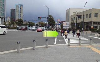 3)すずかけ通り西交差点を右折