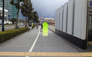 2)新高島駅連絡口2番出口を出たら右(みなとみらい)方向へ約70メートル直進