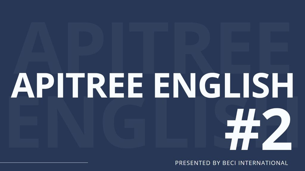 APITREE ENGLISH